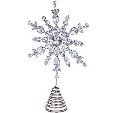 Snowflake Tree Topper - Silver