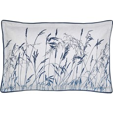 Clarissa Hulse Blowing Grasses Oxford Pillow Case - Blue