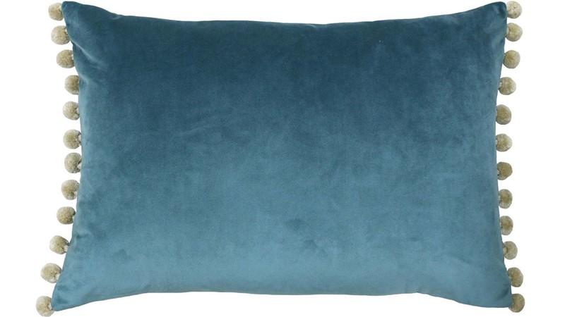 Fiesta Cushion - Blue & Natural