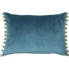 Fiesta Cushion - Blue & Natural