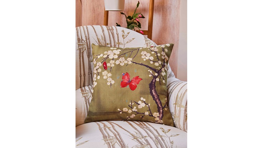 Chateau Chateau Blossom Cushion - Basil