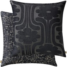Orla Kiely Climbing Daisy Square Cushion - Charcoal