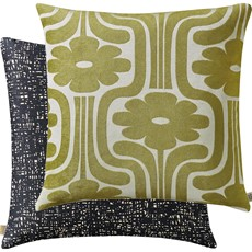 Orla Kiely Climbing Daisy Square Cushion - Yellow