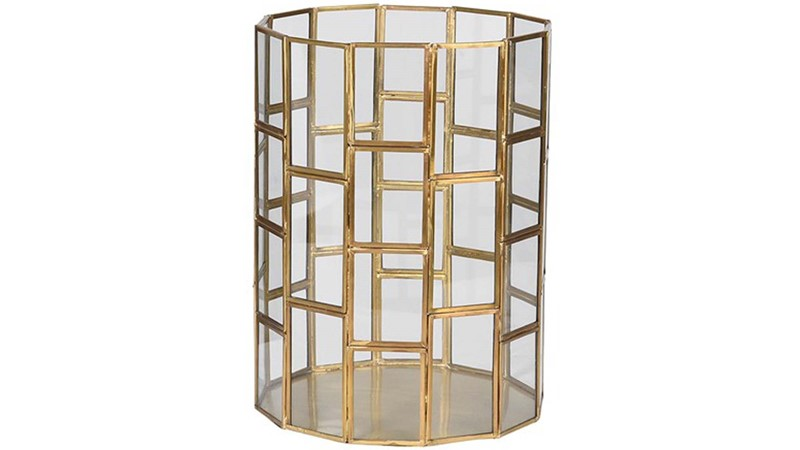 Gold Glass Lantern - Small