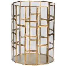 Gold Glass Lantern - Small