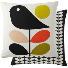 Orla Kiely Early Bird Square Cushion - Pale Rose