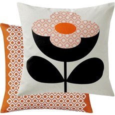 Orla Kiely Buttercup Square Cushion - Persimmon