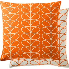 Orla Kiely Linear Stem Square Cushion - Persimmon