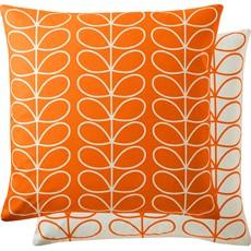 Orla Kiely Linear Stem Square Cushion - Persimmon