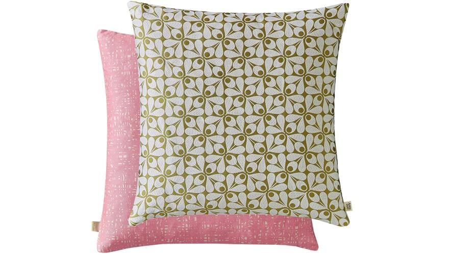 Orla Kiely Acorn Cup Square Cushion - Moss