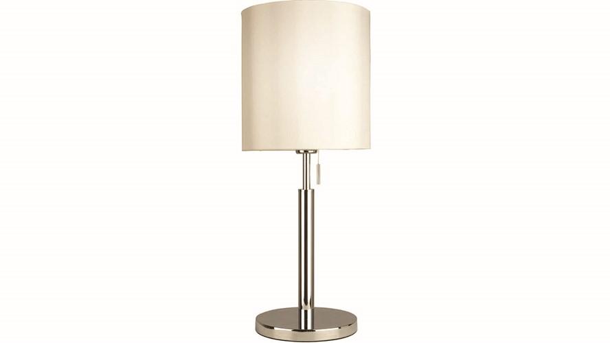 Milan Table Lamp Chrome & White