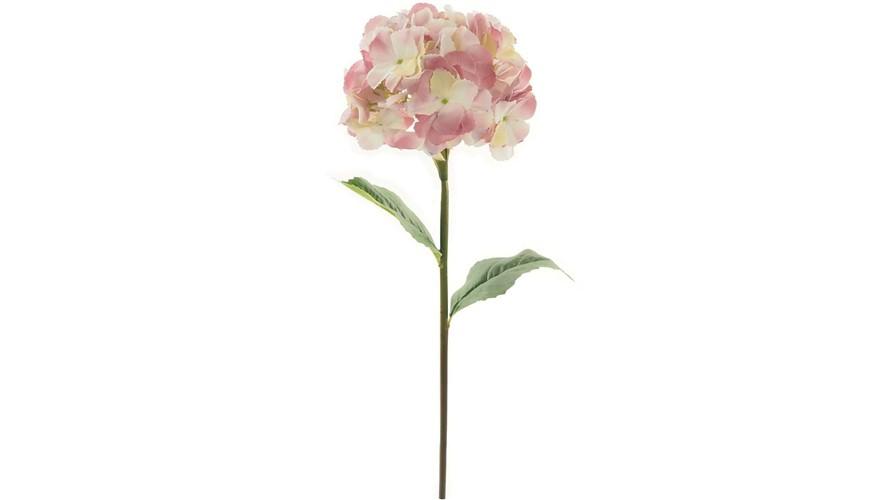 Silk Mophead Hydrangea Stem - Dusty Pink