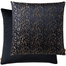 Kai Metallic Square Cushion - Navy & Gold