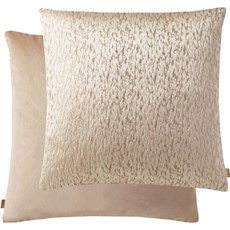 Kai Metallic Square Cushion - Peach Cream