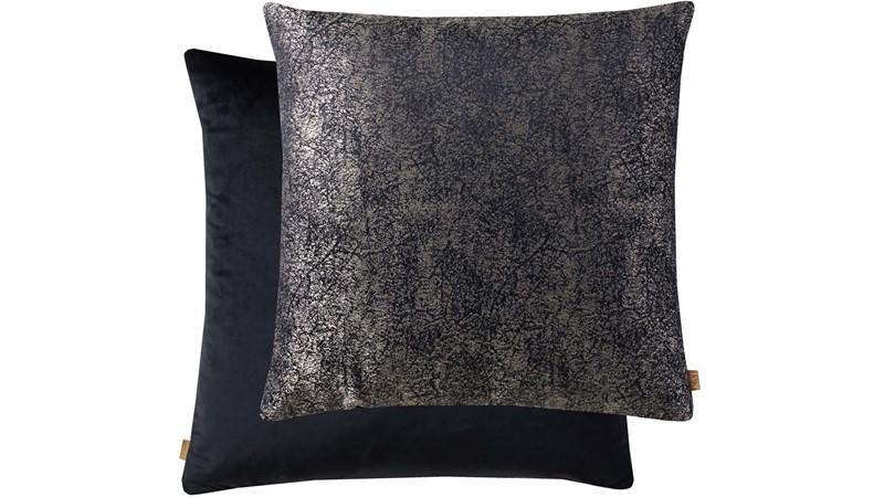Kai Metallic Square Cushion - Black