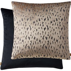 Kai Fleck Square Cushion - Black & Taupe
