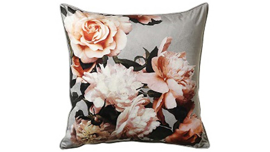 Isabella Square Cushion - Grey