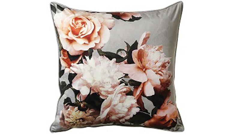 Large Isabella Square Cushion - Grey