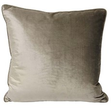 Luxe Velvet Square Cushion - Mink