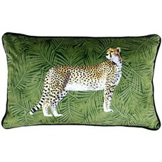 Cheetah Forest Square Cushion - Green