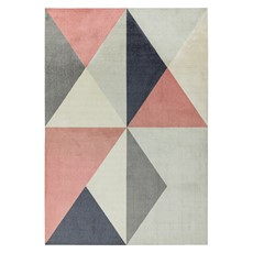 Riley Rug - Pink Grey
