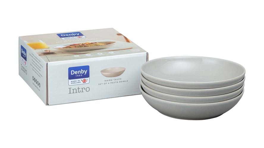Denby Intro Pasta Bowl Warm Taupe Set 4