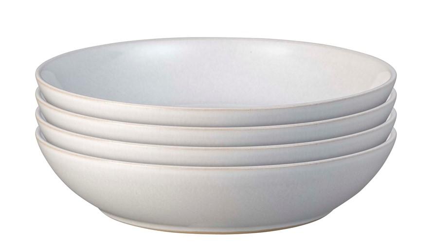 Denby Intro Pasta Bowl Stone White Set 4