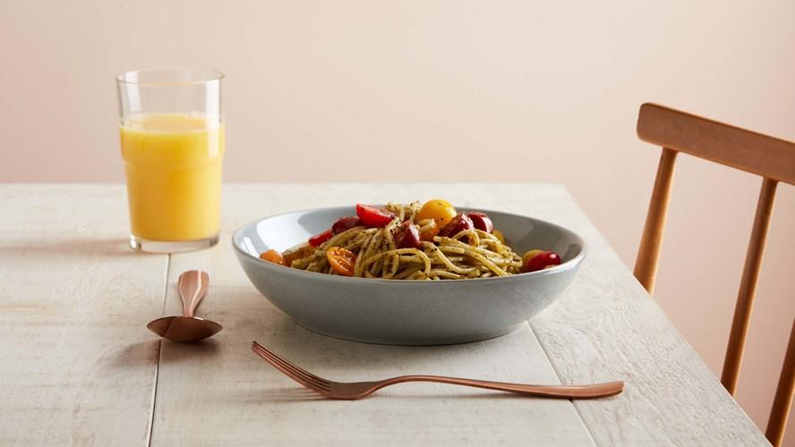Denby Intro Pasta Bowl Soft Grey Set 4