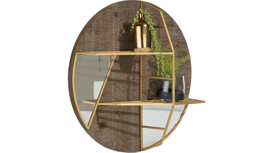 Amy Wall Mirror - Gold
