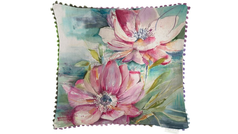 Dusky Blooms Square Cushion