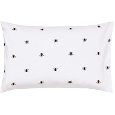 Joules Botanical Bee Housewife Pillow Case - White