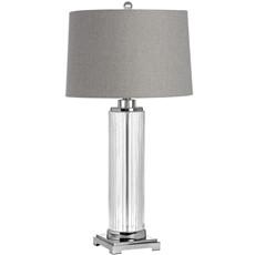 Roma Glass Table Lamp - Grey