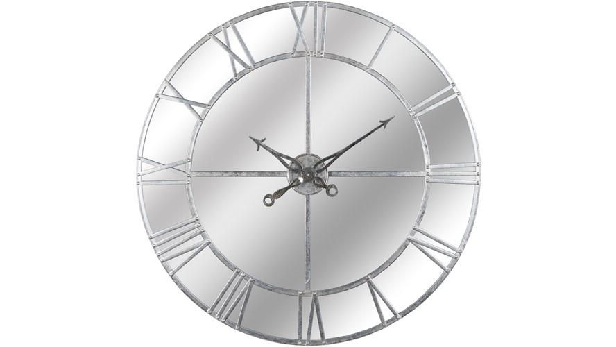 Mirrored Silver Foil Wall Clock - Small