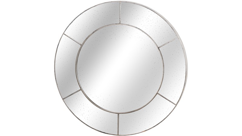 Augustus Circular Window Wall Mirror - Silver
