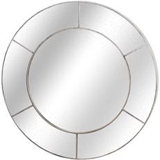 Augustus Circular Window Wall Mirror - Silver
