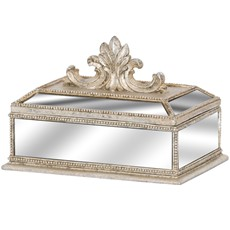 Ornate  Fleur De Lis Trinket Box