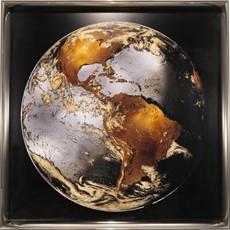 World Turning 2 Gilt Framed Print