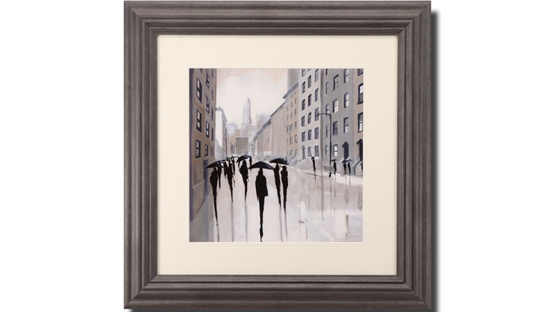 City Commute Framed Print