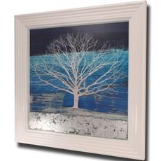 Treescape Square Embellished Framed Print