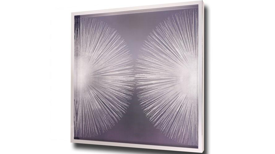 Silver Sunburst 2 Framed Print