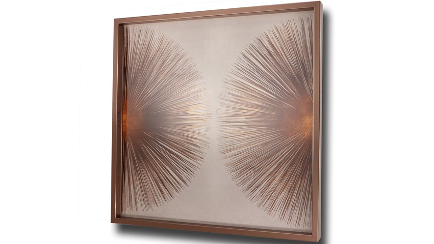 Bronze Sunburst 2 Framed Print