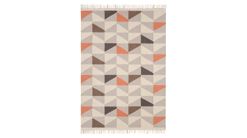 Hackney Rug - Geo Heather