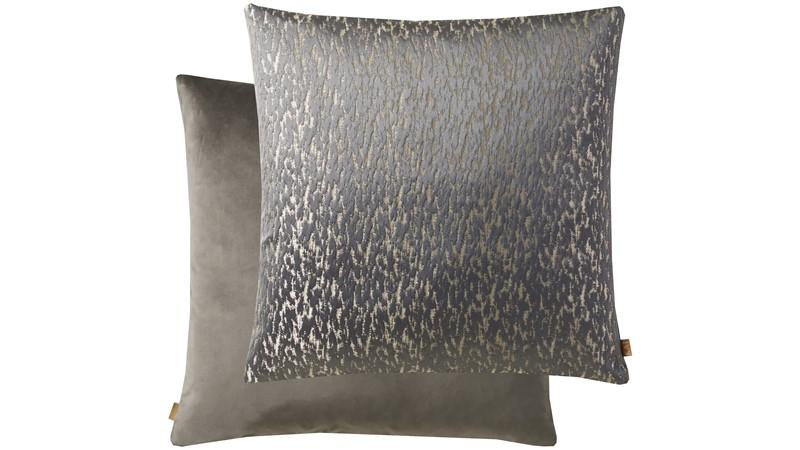 Metallic Square Cushion - Pewter