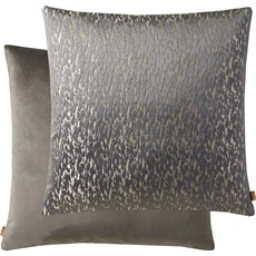 Metallic Square Cushion - Pewter