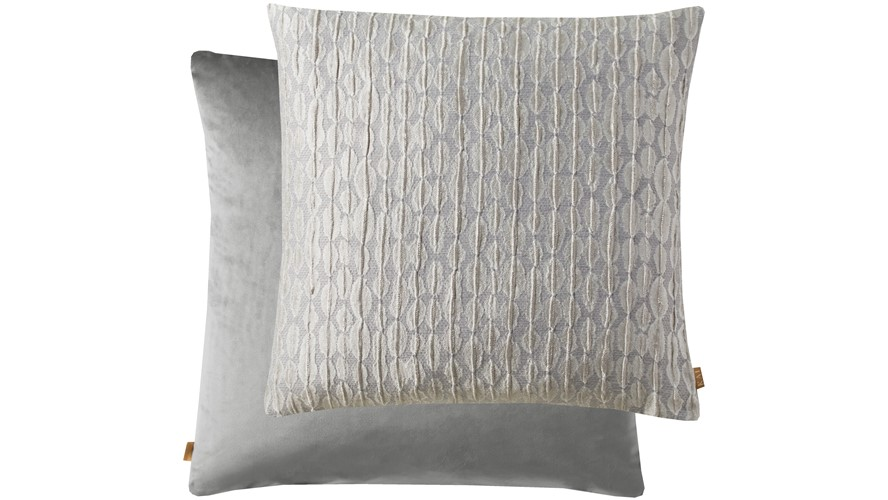 Metallic Square Cushion - Silver