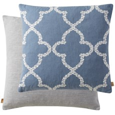 Embroider Square Cushion - Midnight Blue