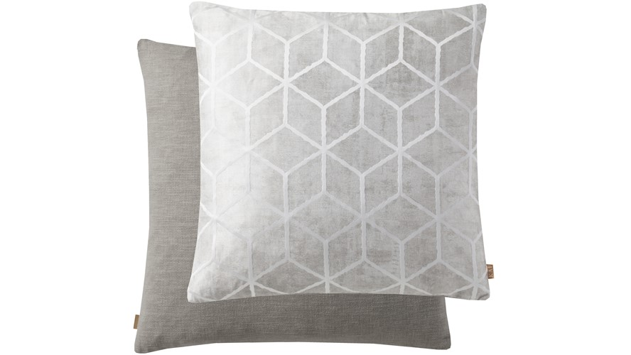 Geometric Cushion - Grey