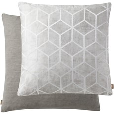 Geometric Cushion - Grey
