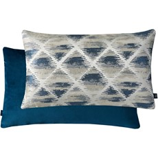 Geometric Rectangle Cushion - Blue