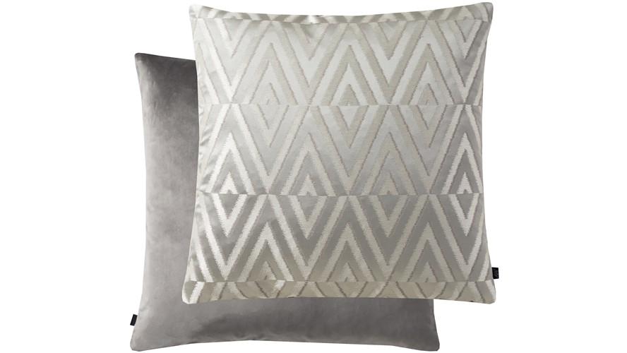 Geometric Rectangle Cushion - Silver